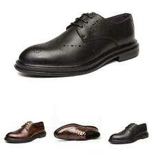 British Men Dress Formal Leather Shoes Business Work Office Oxfords Low Top 45 D