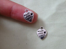 20 made with love charms pendant Tibetan tibet silver antique wholesale bulk UK