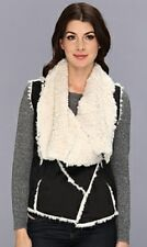 NWT SAM EDELMAN FAUX FUR SHERPA VEST BLACK WHITE LUXE LUXURIOUS SOFT XS