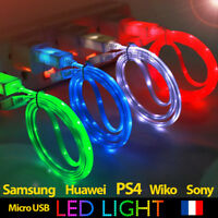 CHARGEUR CABLE USB UNIVERSEL POUR SAMSUNG HONOR HUAWEI PS4 LED LIGHTS GUIRLANDE