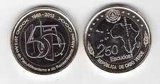 CAPE CABO VERDE - BIMETAL 250 ESCUDOS UNC COIN 2013 YEAR 50th ANNI PAN-AFR
