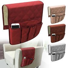 Sofa Arm Rest TV Remote Control Organizer Holder 5 Pockets Chair Couch Bag