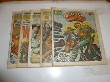 2000 AD Comic 5 Comic JOB LOT - Progs No 366 too 370 Date 1984 - UK Paper Comic