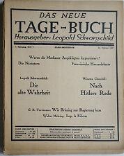 Le nouveau jours-Livre 5. année, Léopold schwarzschild., magazines, l'exil