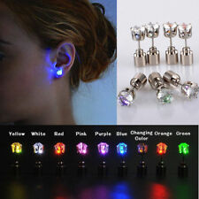 Fashion  Unisex LED Earrings Light Up Bling Ear Studs Dance Bar Party Gathering