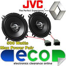 """RENAULT Clio MK3 JVC 13cm 5.25 """" 500 Watt COPPIA DI PORTA ANTERIORE ALTOPARLANTI E ADATTATORI"""