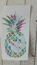 Pineapple car decal, tumbler decal 3.5 height Floral Beach, Lilly, Summer life.