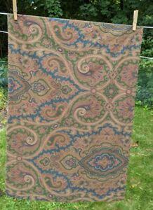 Vintage Ralph Lauren Brianna Paisley Standard Pillow Case Brown Green Blue