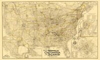 Nashville Chattanooga and St Louis Railway - Danley 1889 - 23.00 x 38.32