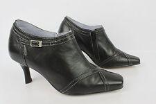 Boots IRRELLE Cuir Noir Doublé cuir Mauve T 37 --> 36 TBE