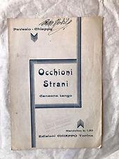 SPARTITO MUSICALE OCCHIONI STRANI CANZONE TANGO PAVESIO CHIAPPO 1935