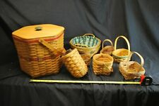 Longaberger And Extra Basket Set #1 See Pics -A17
