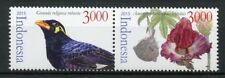 Indonesia 2015 MNH Flora & Fauna Elephant Foot Yam 2v Set Birds Flowers Stamps