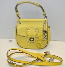 Coach #19886 Willis Mini Yellow Leather Cross Body Bag