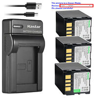 Kastar Battery Slim Charger for JVC BN-VF733 & JVC GR-D347 GR-D347U GR-D347US