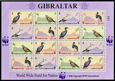 4515) GIBRALTAR 1991 - Kleinbogen KB Mi.Nr. 619 - 622 ** WWF VÖGEL