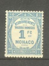 "MONACO STAMP TIMBRE TAXE N° 27 "" 1F BLEU CLAIR 1932 "" NEUF xx SUP"