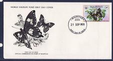 WWF enveloppe 1er jour  Mauritus  papillon  citrin