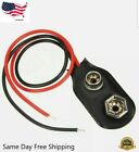 9 V (9 Volt) Battery Connector Clip Snap On Plug-Long 12cm Wire Leads-US