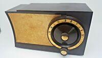 Vintage Admiral 5T32 Atomic Bakelite Tube AM Radio MCM Works