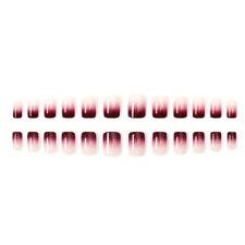 24x/set Natural French Style Gradient False Nail Tips Fake Artificial Nails Glue