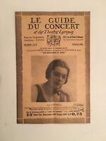 El Guía de La Concierto Y Las Teatro Letra La Candela N º 11 1928
