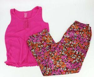 Faded Glory Womens Lounge Sleepwear Set Top & Pants Pajamas Size XL & Large Pink