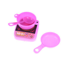 Mini Plastic Simulation tableware Kitchen pot and pan cutlery for barbie doll LY