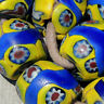 10 old antique venetian large round millefiori african trade beads #536