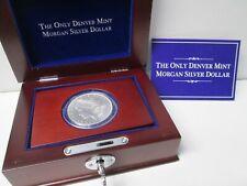 1921 D US Morgan Silver Dollar with Box and coa