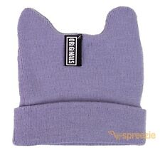 Grey Beanie Cat Ears Bunny Cuffed Warm Ski Winter Knitted Cap Hat Fashion Cute