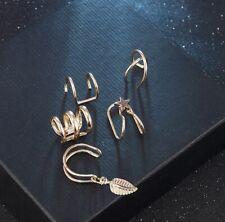 5 Pcs/Set Ear Cuffs GOLD Leaf Ear Cuff Clip Earrings