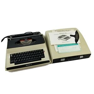 Royal Apollo 10 Electric Portable Typewriter Complete Case Manual Tested Vtg