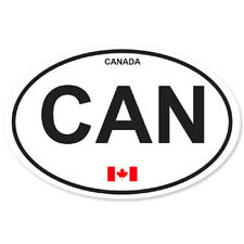 CANADA COUNTRY OVAL BUMPER STICKER OVAL 120mm x 78mm