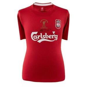 Steven Gerrard Signed 2005 Liverpool Champions League Jersey JSA COA QQ51183