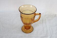 CAMBRIDGE GLASS AMBER # 550 10 OZ. HANDLED MUG ELEGANT