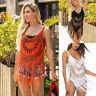 Women's Bathing Suit Lace Crochet Tassel Bikini Swimwear Cover Up Beach Dress