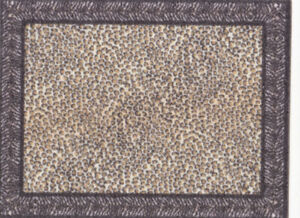 "Dollhouse Miniature Leopard Print Small Accent Rug 2 1/4"" x 1 3/4"" RG407"