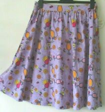 LINDY BOP SKIRT Purple Lilac Summer Cocktails Swing Jive 1950s Retro 16 NEW