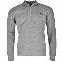 Slazenger Mens Quarter Zip Fleece Top Sweatshirt Jumper Pullover MEDIUM A223