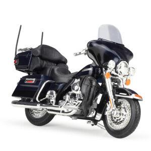 Maisto 1:18 Harley Davidson 2013 FLHTK Electra Glide MOTORCYCLE BIKE Model Blue