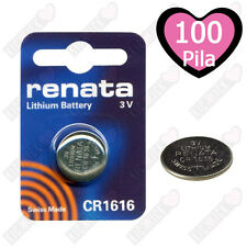 100 Batteria Litio CR1616 RENATA