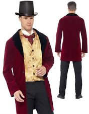 Edwardian Gent Victorian Deluxe Adult Mens Smiffys Fancy Dress Costume - Large