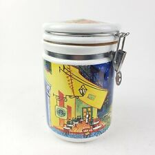 Starbucks Gasket Coffee Canister Chaleur Vincent Van Gogh RARE Some Flaws