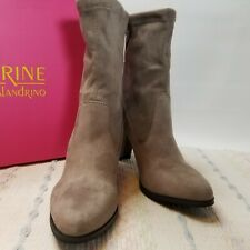 Taupe Winter Boots Catherine Malandrino Sorchanie Heels Size 6.5 Womens Orig Box