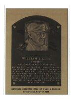 WILLIAM KLEM Hall of Fame METALLIC Plaque Card