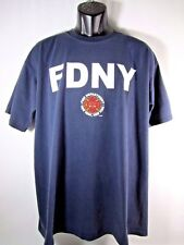 FDNY Vintage T- Shirt NYC New York Fire Department Pre 9/11 Blue Men XL USA Made