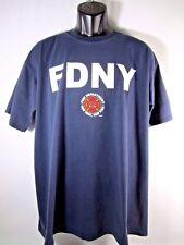 FDNY Vintage T- Shirt New York Fire Department Pre 9/11 Blue Men XL USA Made