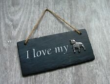 Staffie Bull Terrier Slate Plaque Rustic Ornament Home Decor Valentine Xmas Gift