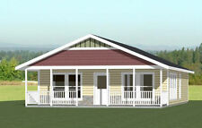 28x36 House -- 3 Bedroom 2 Bath -- 1,008 sq ft -- PDF Floor Plan -- Model 1E